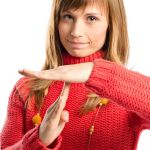 Lady with timeout hand gesture Inner Sanctuary